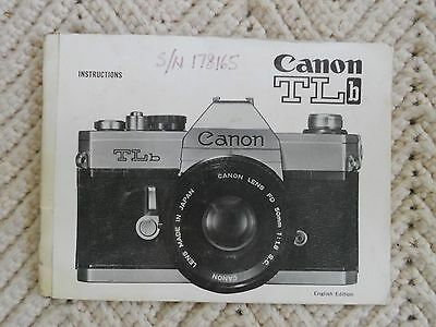Canon TLb Instruction Manual