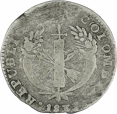 Colombia 1833 Real FINE/VERY GOOD