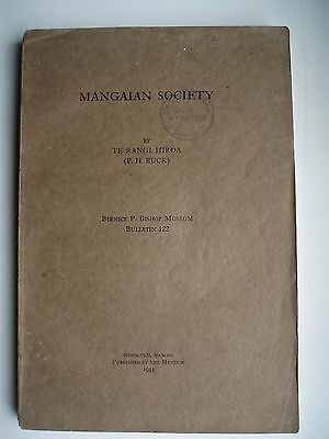BISHOP MUSEUM MANGAIAN SOCIETY  1934 ( COOK islands )