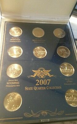 2007 U.S. Quarter Collection in Government Box - 10 Coins
