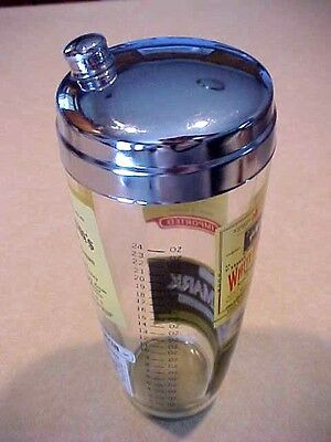 Seagram's Adv. Glass Cocktail Shaker With Lid