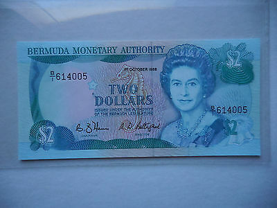 Bermuda . $ 2 , 1988 . P - 34b . Gem Uncirculated