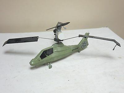 Army Helicopter With Gas Engine Missing A Blade