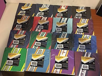 Nrl Team Paper Napkins 12 Per Pack 16 Teams Available Party Birthday Bbq B/new