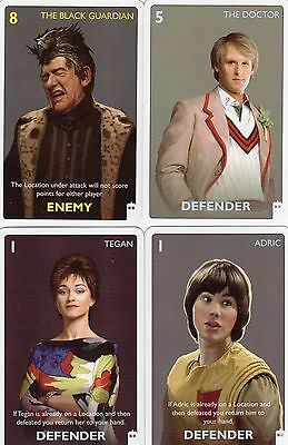 Doctor Who the Card Game Classic Doctor Version c7e - 4 cards Fifth Doctor +
