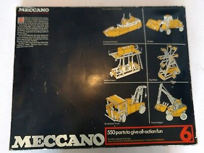 Meccano Set 6 - 550 Parts 77 Models