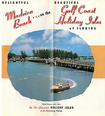 Madeira Beach Holiday Isles Florida Vintage Travel Brochure Photos Circa 1950's