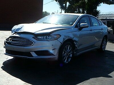 2017 Ford Fusion Hybrid SE 2017 Ford Fusion Hybrid SE Sedan Wrecked Repairable Only 3K Mi Gas Saver L@@K!!