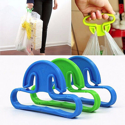 5pcs Plastic Shopping Bag Hook Food Goods Shopping Food Carrying Helper Random J