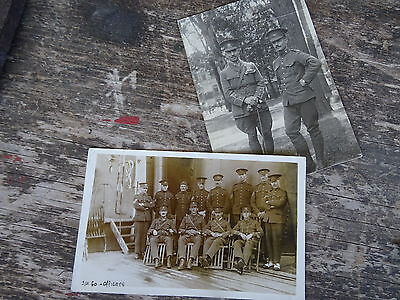 RPPC POSTCARD AND PHOTO CANADIAN WWI Canada Military Officers 1914 EDMONTON