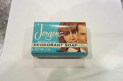Vintage JERGENS DEODORANT SOAP BAR 1960's Great Graphics!