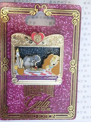 Disney WDW Imagination Gala Most Romantic Moment Lady and the Tramp LE 300 Pin