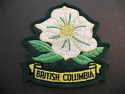 British Columbia Team Embroidered Blazer Patch Canada Canadian Dogwood