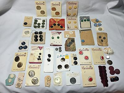 Old Vintage Buttons Variety Glass Shell Approximately 100 Total