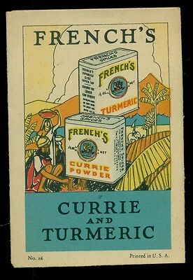 1926 French's Currie and Tumeric Recipe Brochure