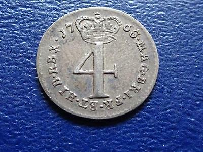 George Iii Maundy Fourpence 1763 4D Great Britain Uk