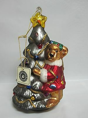 Boyds Bears 1997-98 GlassSmith Collection Large Blown Glass Ornament Christmas