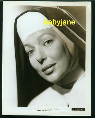 LORETTA YOUNG VINTAGE 8x10 PHOTO AS A NUN 1949 COME TO THE STABLES