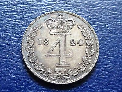 George Iiii Maundy Fourpence 1824 4D Great Britain Uk