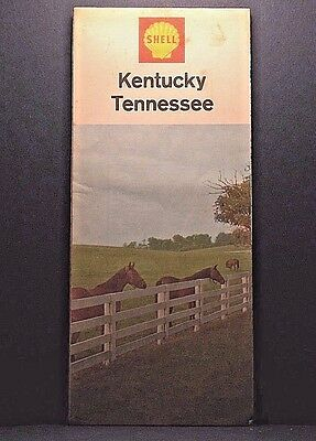 SHELL OIL Company ROAD MAP Kentucky / Tennessee 1967