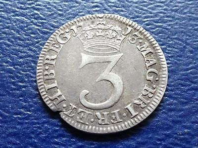 Queen Anne Maundy Threepence 1713 3D Great Britain Uk