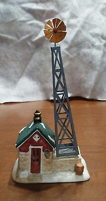 Christmas Village: 1993 SEASONAL SPECIALTIES CO: well house and windmill