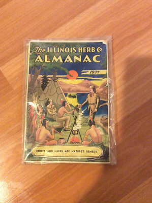 Vintage Illinois Herb Co Almanac 1937 Roots And Herb Remedy