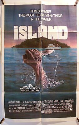 """THE ISLAND Peter Benchley One Sheet Folded Movie Poster 27"""" x 41"""" Original"""