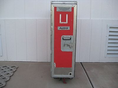 1 Austral Airline Full Size Airline Galley Service Cart Trolley Bar & Beverage