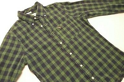 Men's Abercrombie & Fitch Long Sleeve Button Front Casual Shirt Size Medium