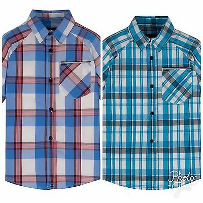 NWT Boy's Hurley Plaid Short Sleeve Button-Down Shirt