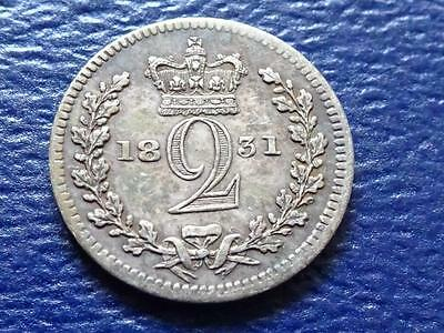 William Iiii Maundy Twopence 1831 2D Great Britain Uk