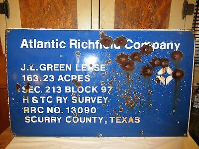 Atlantic Richfield Company Porcelain Lease/Well Sign