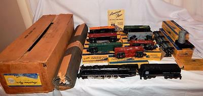 1953-54 American Flyer SET K5358W Challenger Freight 9pc Northern Union Pacific