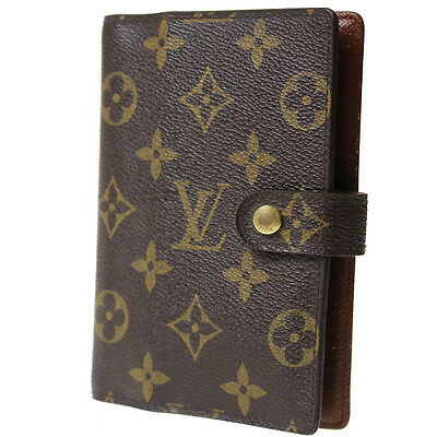 LOUIS VUITTON Agenda PM Day Planner Cover Monogram R20005 Vintage Auth #7802 M