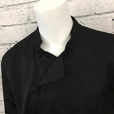 Chef Works long Sleeve Chef Black Jacket Men's XL cooking culinary