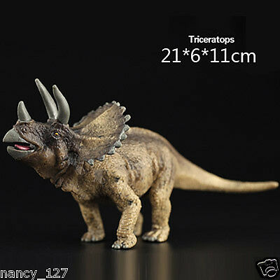 Triceratops Prehistoric Dinosaur Collectible Model Figurine Animal Figure Toy