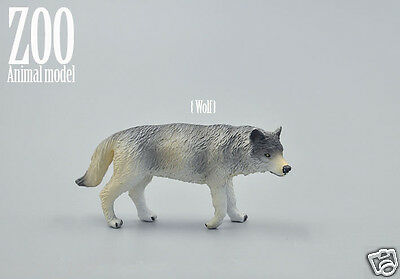 Wild Animal Gray Wolf Model Figure Toy Collectible Figurine Educational toy