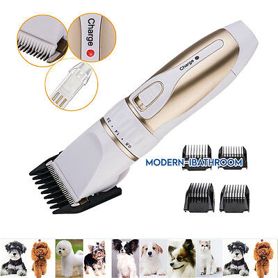 Professional Heavy Duty Pet Grooming Clippers Kit for Thick Hair Dogs Chargeable