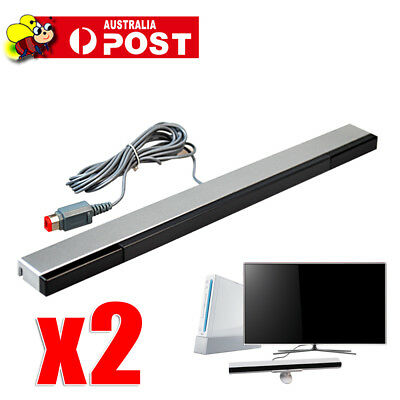 Infrared Ray Wireless Sensor Bar for Nintendo Wii / Wii U / Wii Mini Console AU