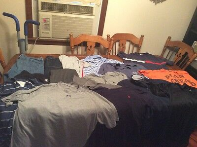 Men's Clothing Lot 16 Large XL shirts Jeans sweats polo under armour nautica