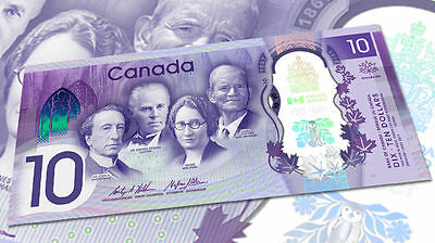 New Canadian Commemorative Ten Dollar ($10) 150th  Bill Note Uncirculated
