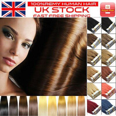 Hot Sale ❤Extra THICK Tape In Remy 100% Real Human Hair Extensions Russian MM171