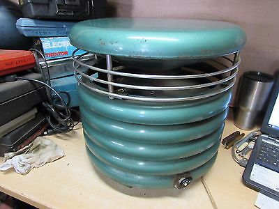 Kisco Hassock Circulair KF 50 PA Round Floor Fan Green Clean Working Condition