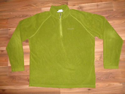 Columbia Men's Jacket 1/4 Zip Lightweight Fleece Size XL Green
