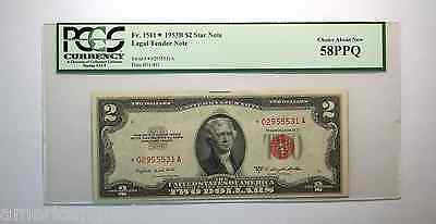 $2 1953B Legal Tender *Star Note* PCGS 58 PPQ Choice About New-LOW POP. RARE!