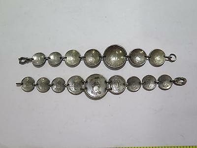 Philippines Centavos Silver Coin Jewelry Bracelets Antique World Collection Lot