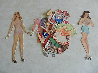 1953  A Busy Day with Peg and Dot  vintage paper dolls