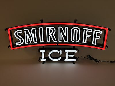 "Smirnoff Ice LED Sign Opti Neon - NEW In Box & Free Shipping  - 24.5"" X 11.5"""