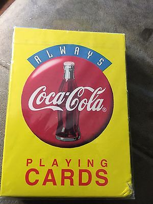 Vintage Always Coca Cola 1994 Plastic Coated Playing Cards-Sealed